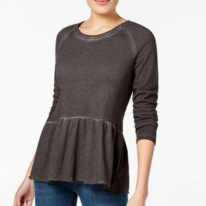 Style & Co | Peplum Flounce Sweatshirt
